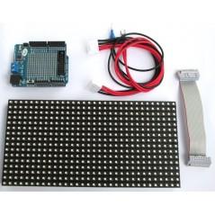16x32 RGB LED matrix panel + Arduino driver shield (ER-CDE20031P)