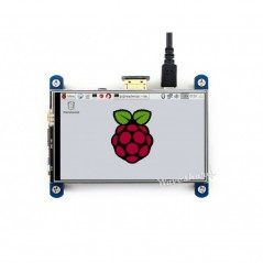 "4inch HDMI LCD, 800×480, IPS (Waveshare) 4"" Touch Screen LCD, HDMI interface, IPS Screen, Designed for Raspberry Pi"