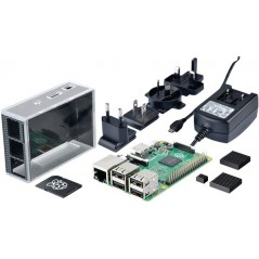RPI3 B BUNDLE 8GB KIT  (RPI3 B,8GB NOOBS SD card,Case,POWER SUPPLY 2.5A, 4xHEAT SINK)