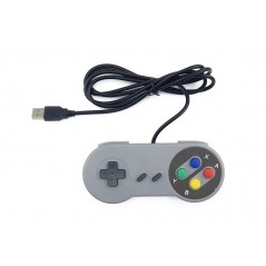 SNES USB Famicom Colored Super Nintendo Style Controller for PC/MAC/Raspberry pi (ER-APK96642S)