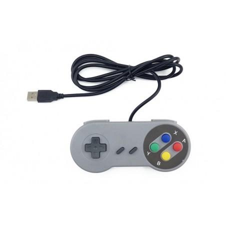 SNES USB Famicom Colored Super Nintendo Style Controller for PC/MAC/Raspberry pi (ER-APK96642S)