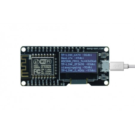 D-duino (ER-ACM47512O) ESP8266, 0 96inch OLED, Compatible with Arduino and  NodeMCU (Lua for ESP8266)