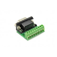 9Pin DB9 Solderless Terminal Male RS232 RS485 Adapter Connector (ER-CIA03515C-MALE)