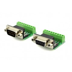 9Pin DB9 Solderless Terminal Female RS232 RS485 Adapter Connector  (ER-CIA03515C-FEMALE)