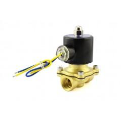 Brass Liquid Solenoid Valve - 12V - 1/2 NPS (ER-ACS23076N)