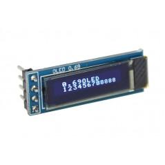 """I2C 0.69""""Blue OLED LCD Module for Arduino (ER-DLO16025O)"""