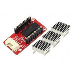 Crowtail- LED Matrix (ER-CRT15121M) Crowtail interface + 3pcs of 8x8 LED matrix