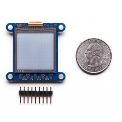 "SHARP Memory Display Breakout - 1.3"" 96x96 Silver Monochrome (AF-1393)"