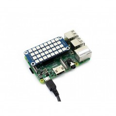 True color RGB LED HAT for Raspberry Pi, colorful display (WS-12725) perfectly for Zero / Zero W