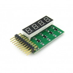8 SEG LED Board (Waveshare 4653) 4-digit 8-segment LED display board, including decimal point