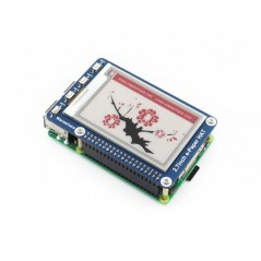 264x176, 2.7inch E-Ink display HAT for Raspberry Pi, three-color (WS-13357) e-Paper HAT (B) (Waveshare)