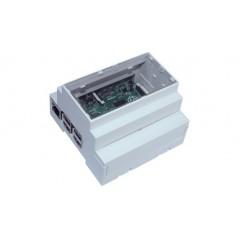 Box pre Raspberry Pi B+, Pi 2 a Pi 3, DIN Lišta , CBRPI-DR-2-3-CLR, Camdenboss