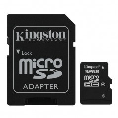 SDC4/32GB  - KINGSTON Micro SDHC 32GB Class 4 s adaptérom