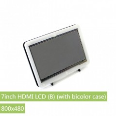 7inch HDMI LCD (B) + Bicolor case (WS-11302) 800×480 , Capacitive touch , bicolor case -  Waveshare