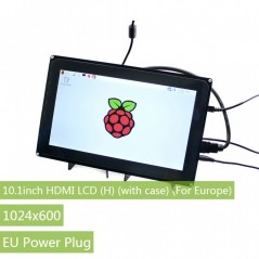 10.1inch HDMI LCD (H) (with case) (For Europe), 1024x600 (WS-11557)