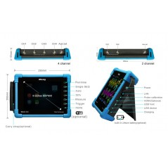 TO1152 (Micsig) Handheld 2-Channel full touch tablet DSO 150MHz , 1GSa/s sampling rate (Tablet oscilloscope)