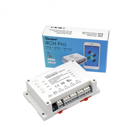 Sonoff 4CH Pro - 4 Gang Inching/Self-Locking/Interlock WiFi RF Smart Switch  (IM170424002)