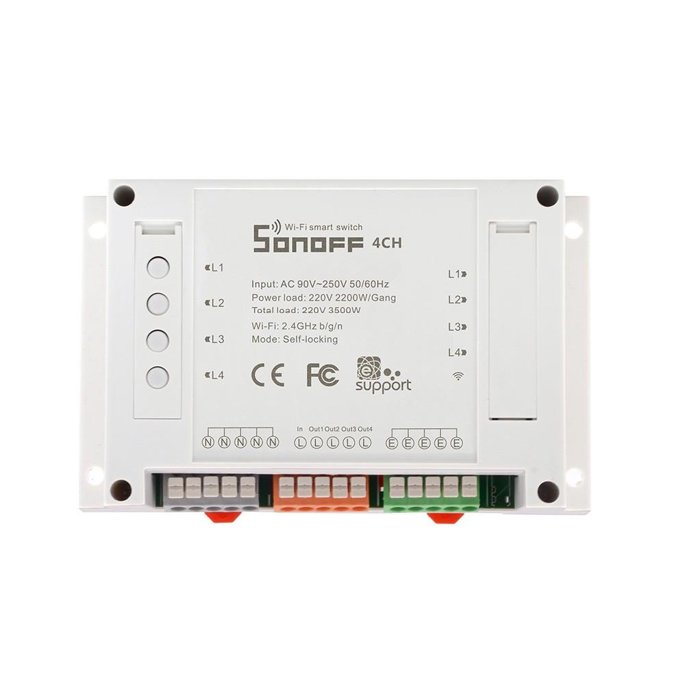 Sonoff 4ch 4 Channel Din Rail Mounting Wifi Switch Im160913003 Two Way L1 L2 L3