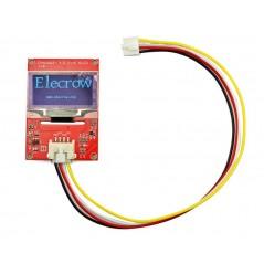 Crowtail- 1.3 Inch OLED (ER-CRT01112O) 128x64 Blue/ Black, I2C, 5V, -20°C/70°C
