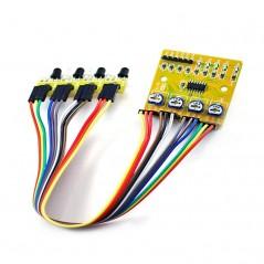 4-Way Infrared Sensor Smart Car Tracking Moudle (ER-SEP03032I)