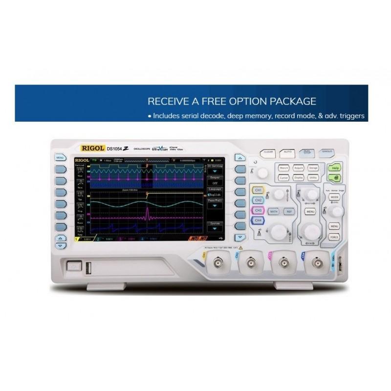 "DS1054Z (Rigol) 4x50MHz 1GSa/s 7""WVGA 800x480 UltraVision,12Mpts memory depth"