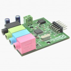 LM4550 AC'97 Stereo Audio Codec Expansion Module (NU-EXPAUD003)