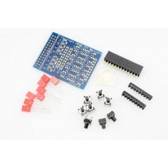 Push Your Pi ! 8 LED & 8 Button Breakout Board for Raspberry Pi (ER-RA00104KIT)