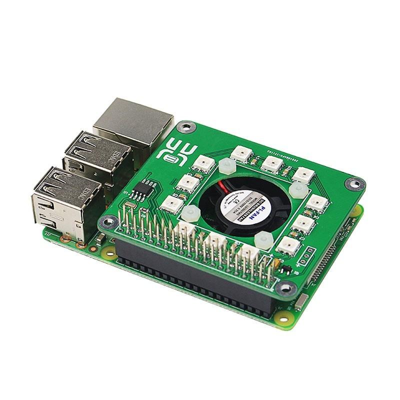 d6b44c653dd Raspberry Pi 3 Smart Temperature Fan RGB LED DS1302 Real Time Clock Hat  Board (ER