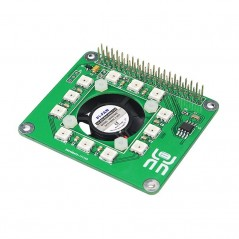 Raspberry Pi 3 Smart Temperature Fan RGB LED DS1302 Real Time Clock Hat  Board (ER-RAA04036B)