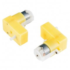2x Hobby Gearmotor - 65RPM Right Angle, Pair (SF-ROB-13258) DAGU 3-6V