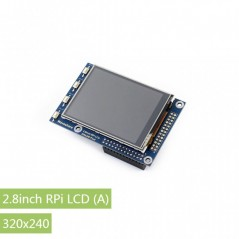2.8inch RPi LCD (A), 320×240  (WS-12219) 320×240, 2.8inch Touch Screen TFT LCD for Raspberry Pi