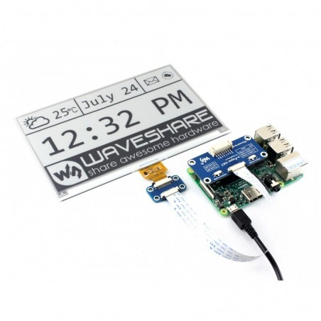 Universal e-Paper Raw Panel Driver HAT (WS-13512) supports various Waveshare SPI e-Paper raw panels