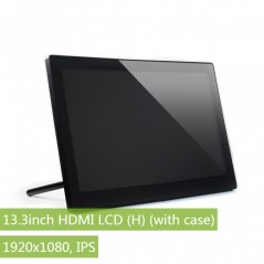 13.3inch HDMI LCD (H) (with case), 1920x1080, IPS (WS-13859)