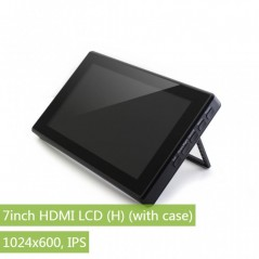 7inch HDMI LCD (H) (with case), 1024x600, IPS (WS-13857)