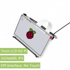 7inch IPS Display for Raspberry Pi, DPI interface, no Touch, 1024x600 (WS-12885)