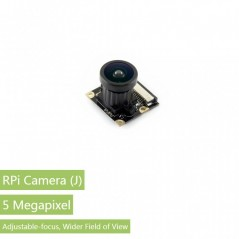 RPi Camera (J), Fisheye Lens (WS-11976) Fisheye Lens, Wider Field of View