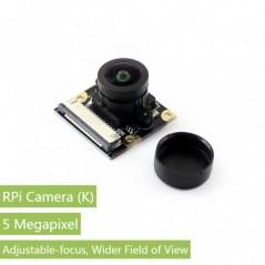 RPi Camera (K), Fisheye Lens (WS-14036) Fisheye Lens, Wider Field of View 5Mpix