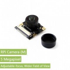 RPi Camera (M), Fisheye Lens (WS-14037) Fisheye Lens, Wider Field of View 5Mpix