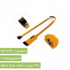 RPi FPC Camera, Mini Size (WS-14038) for Raspberry Pi, Mini Size, Long FPC