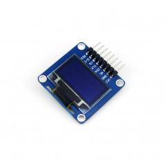 0.96inch OLED (A)  (WS-9085) 128x64, SPI/I2C interfaces, angled/horizontal pinheader