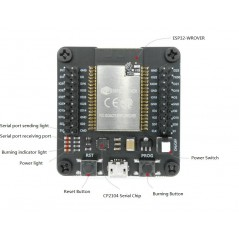 ESP32-WROVER Burning Testing Mini System dev. Board for ESP-WROOM-32/ ESP-32S/ ESP32-WROVER (ER-DTE03033B)