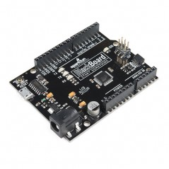 SparkFun BlackBoard  (SF-SPX-14669) Arduino Uno with many extra I/O, PWM,Analog Inputs, UART, SPI, ISP header
