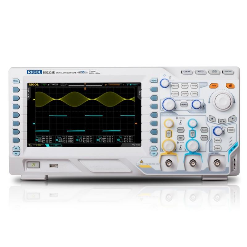 DS2202E (RIGOL) 2x200MHz, 1GSa/s per channel, 28Mpts, 50000 wfms/s