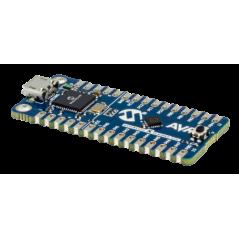 ATTINY416-XNANO (Microchip) evaluation kit includes on-board debugger, no external tools need to program/debug