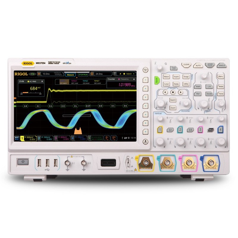 MSO7054 (RIGOL) 4x500MHz +16Ch. Logic Analyzer OSCILLOSCOPE 10GSa/s, 500Mpts, 600.000wfms/s