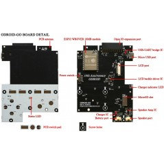 ODROID-GO (Hardkernel) DIY (Do it yourself) DIGame Kit ! Arduino IDE  compatible