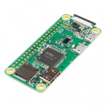 Raspberry Pi Zero W (1GHz CPU, 512MB RAM ,BT4.1/BLE, WiFi 802.11 b/g/n, HDMI, USB, microSD )