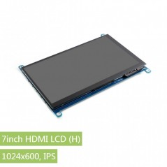 7inch HDMI LCD (H), 1024x600, IPS, supports various systems, capacitive touch (WS-14628) Waveshare