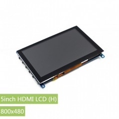 5inch HDMI LCD (H), 800x480, supports various systems, capacitive touch (WS-14300) Waveshare