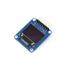 0.95inch RGB OLED (A) (WS-10507) 0.95inch RGB OLED, SPI interface, curved/horizontal pinheader